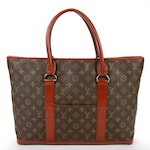 Louis Vuitton Sac Weekend Bag in Monogram Canvas and Leather