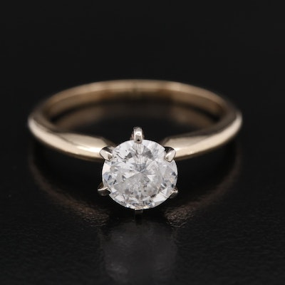 14K 1.01 CT Diamond Solitaire Ring
