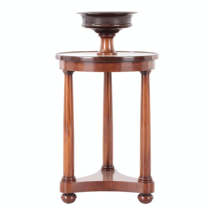 Edward Garrett Empire Style Walnut Tiered Jardiniere Table, Late 20th Century
