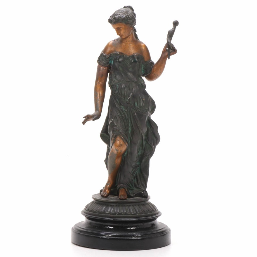 Classical Style Brass Figure, 20th Century