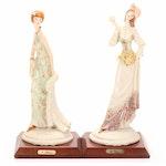 Auro Belcari Capodimonte Porcelain Figurines
