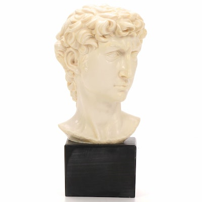 "Amilcare Santini Replica Resin Bust After Michelangelo's ""David"""