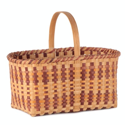Marie George Cherokee Splint White Oak Market Basket