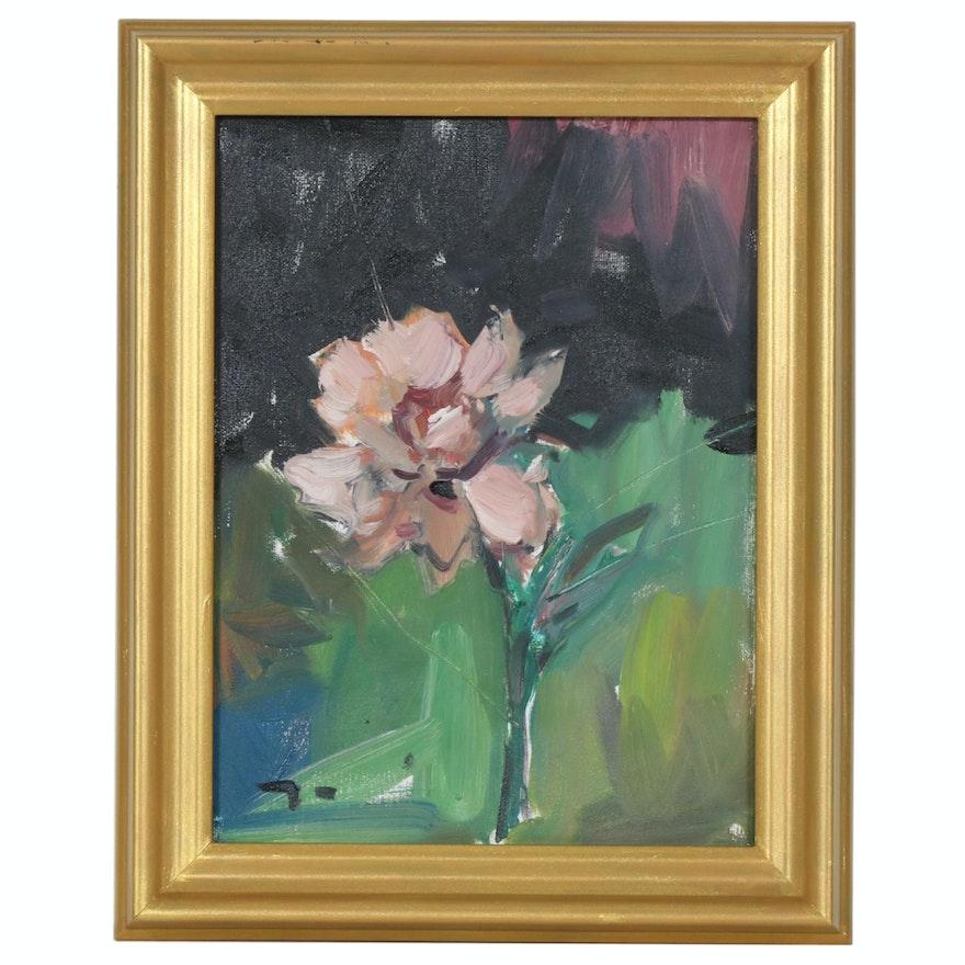 "Jose Trujillo Oil Painting ""Flower"", 2019"