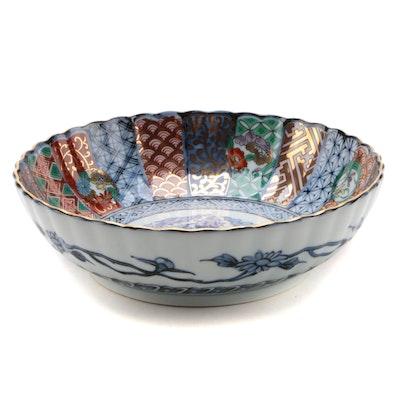 Japanese Imari Scalloped Edge Porcelain Bowl