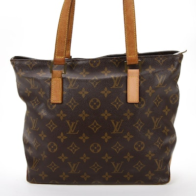 Louis Vuitton Cabas Piano Bag in Monogram Canvas and Vachetta Leather