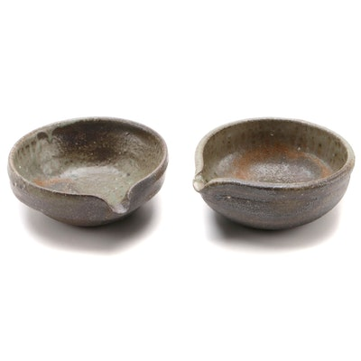 Japanese Hand Thrown Ceramic Spouted Bowls