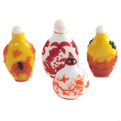 Chinese Peking Glass Snuff Bottles, 20th Century