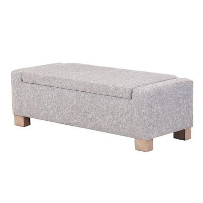 Jason Furniture Co. Upholstered Lift-Seat Storage Ottoman