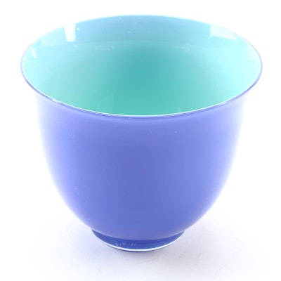 Carlo Moretti for Tiffany & Co. Hand Blown Violet and Glass Bowl