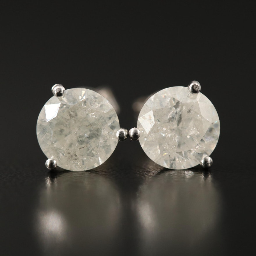 14K Martini Set 3.06 CTW Diamond Stud Earrings