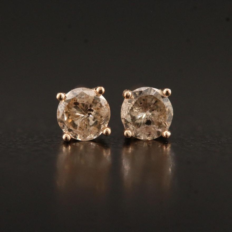 14K 0.30 CTW Diamond Stud Earrings