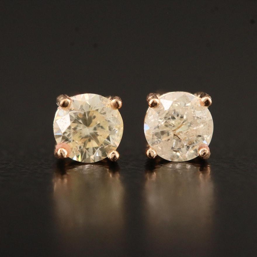 14K 0.52 CTW Diamond Stud Earrings