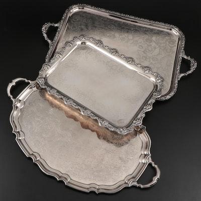 Ellis-Barker Silver Plate Serving Trays
