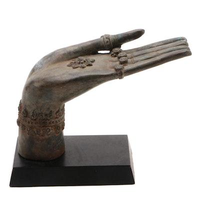 Thai Cast Bronze Hand of Buddha in Abhaya Mudra