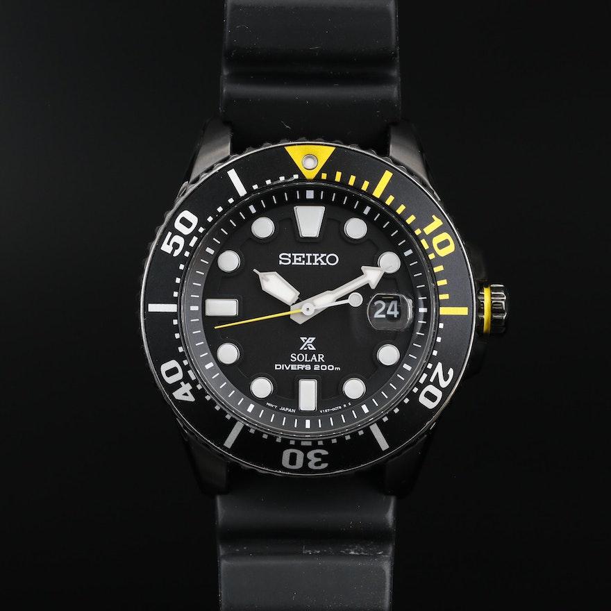 Seiko Prospex Solar Air Diver's 200M Stainless Steel Quartz Wristwatch