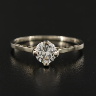 14K 0.47 CT Diamond Solitaire Ring