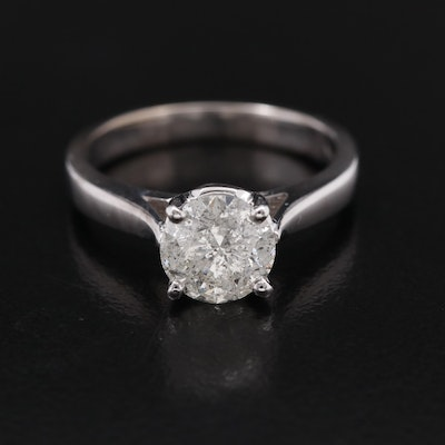 14K 1.47 CT Diamond Solitaire Ring
