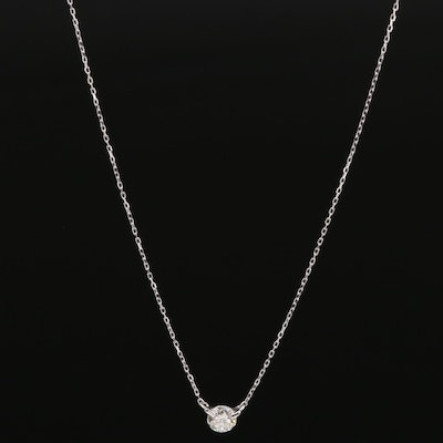 18K 0.30 CTW Diamond Solitaire Necklace