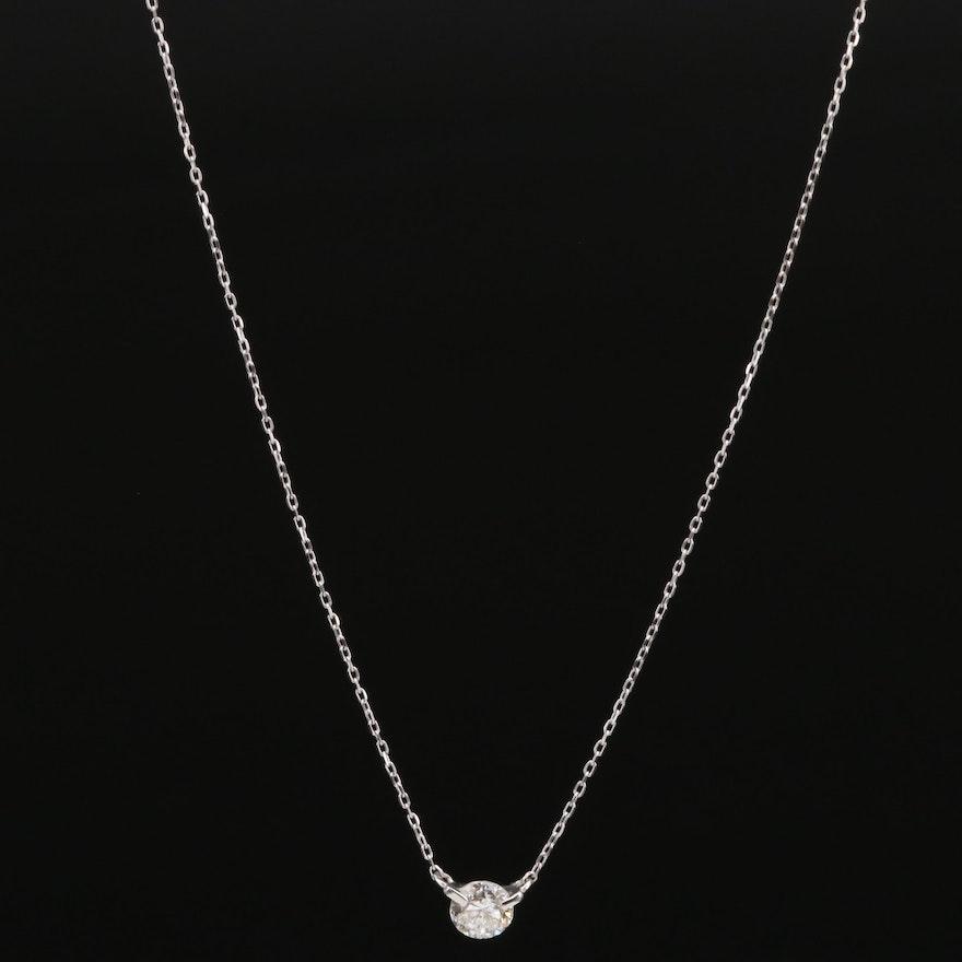 18K 0.30 CTW Diamond Solitaire Necklace