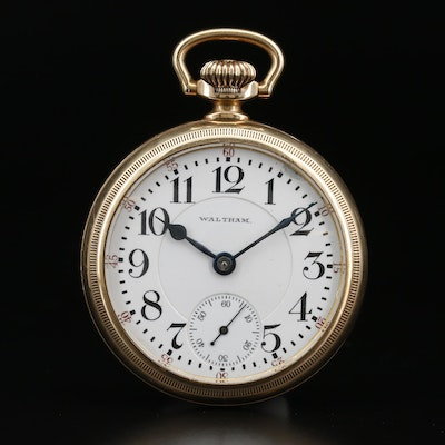 1907 Waltham Railroad Grade Gold Filled Pocket Watch