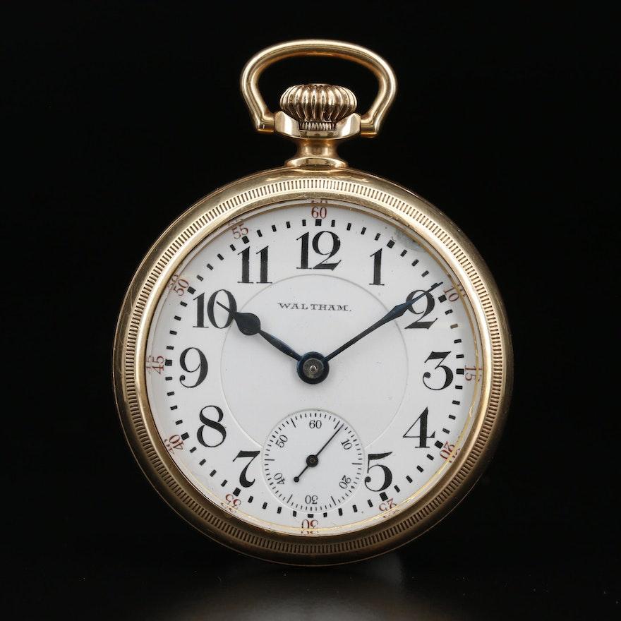 1907 Waltham Railroad Grade Gold Filled Pocket Watch