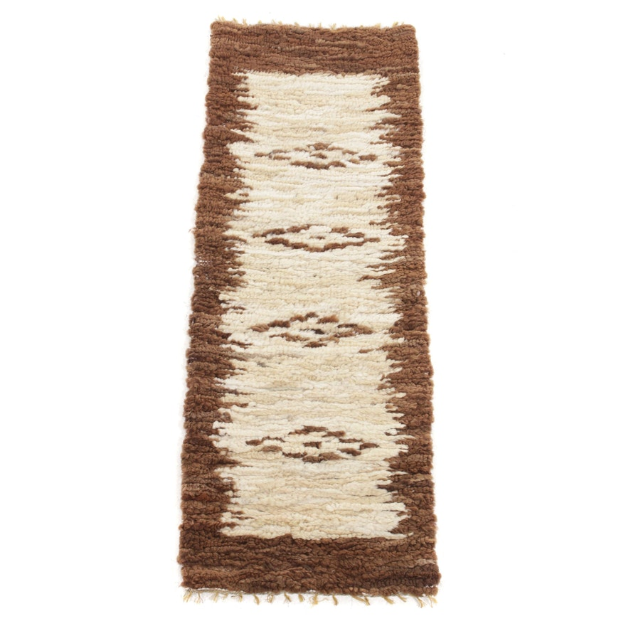 1'11 x 5'3 Handwoven South American Runner Rug, 1970s