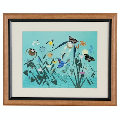 "Offset Lithograph After Charley Harper ""Summer"""