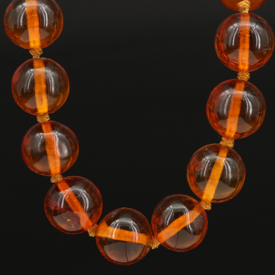 Endless Resin Beaded Necklace