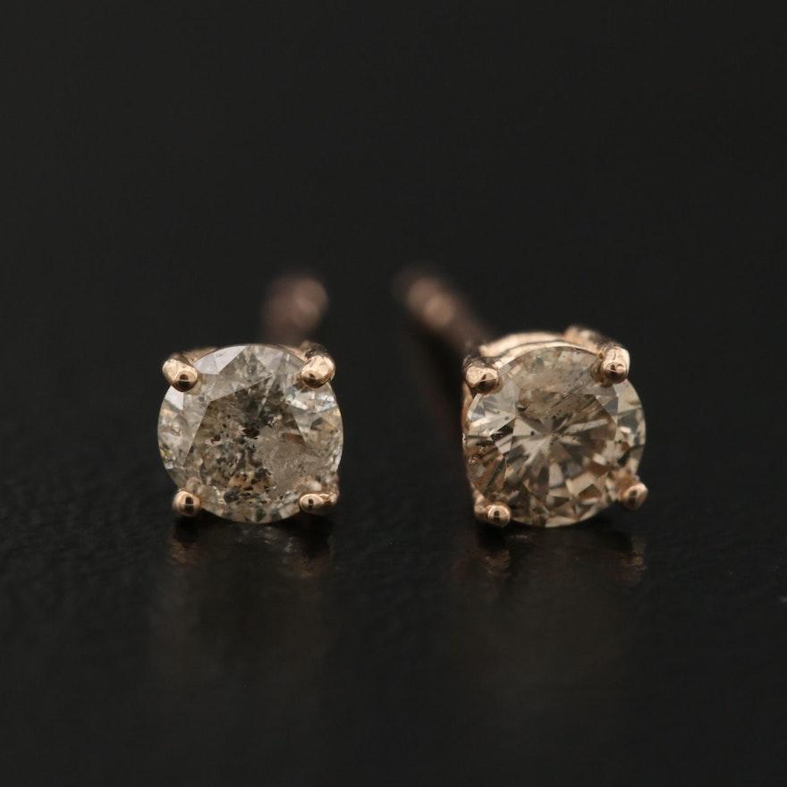 14K 0.36 CTW Diamond Stud Earrings