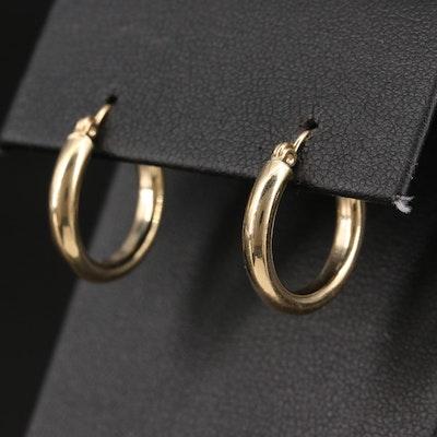 14K High Polished Hoop Earrings