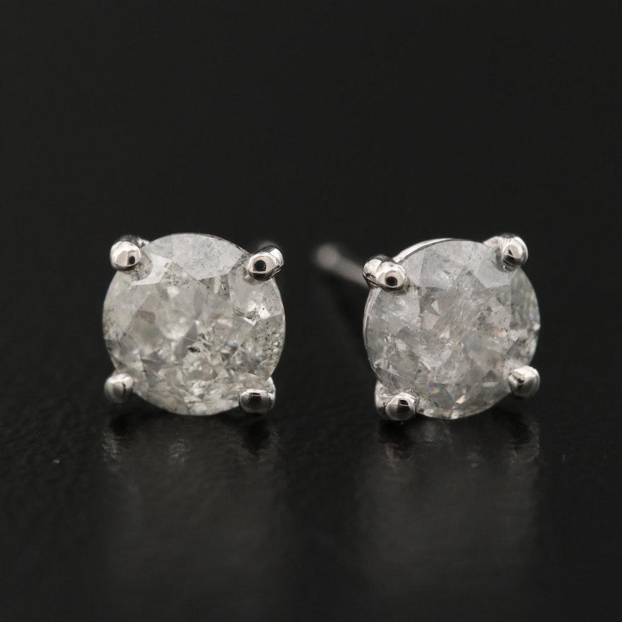 14K 1.25 CTW Diamond Stud Earrings