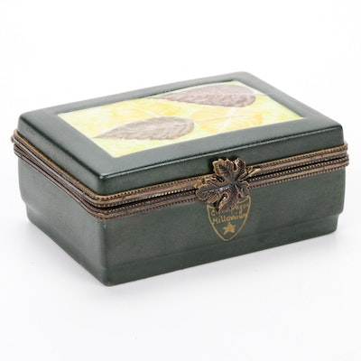Hand-Painted Champagne Case and Bottle Double Limoges Box