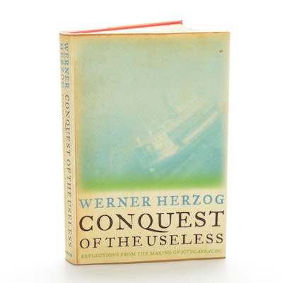 "Signed First Edition ""Conquest of the Useless"" by Werner Herzog, 2009"