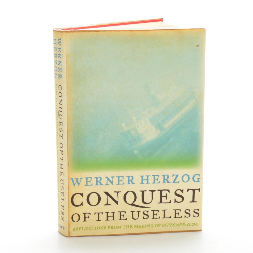 """Signed First Edition """"Conquest of the Useless"""" by Werner Herzog, 2009"""