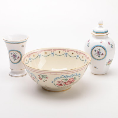 "Spode China ""Trapnell"" Vases and Lenox ""American Presidency Bicentennial Bowl"""