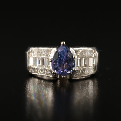 18K Tanzanite and 1.52 CTW Diamond Ring