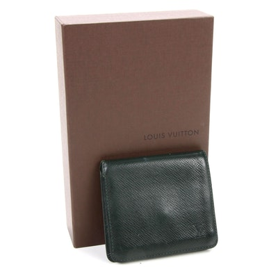 Louis Vuitton Bifold Wallet in Taiga Leather