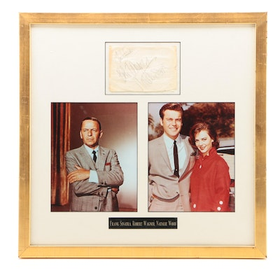 Frank Sinatra, Robert Wagner, and Natalie Wood Framed Hollywood Autograph Cuts