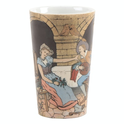 German Villeroy and Boch Mettlach Ceramic Tumbler, Early 20th Century