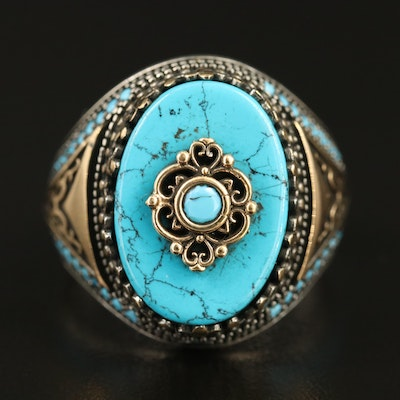 Sterling Faux Turquoise Ring