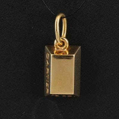Cartier 18K 1/8 oz Ingot Pendant with Box