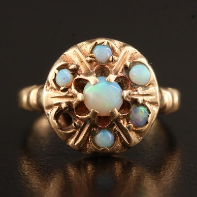 Victorian 10K Opal Cluster Ring