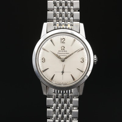 1958 Omega Seamaster Stainless Steel Automatic Wristwatch