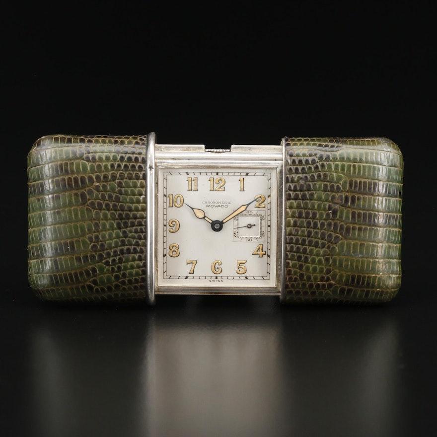 """Vintage Movado """"Ermeto"""" .935 Silver Purse Watch"""