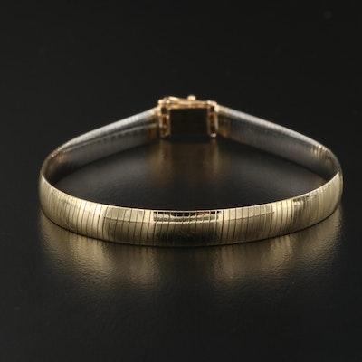 14K Two-Tone Reversible Omega Link Bracelet
