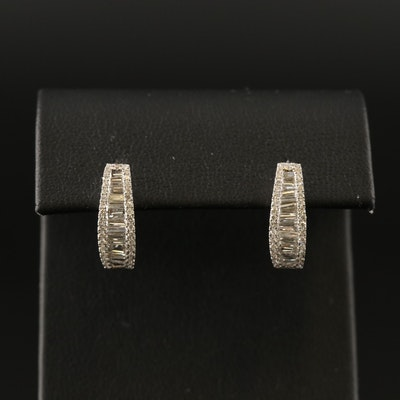 Odelia 18K 1.25 CTW Diamond Hoop Earrings