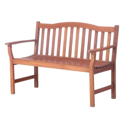 Contemporary Teak Patio Bench