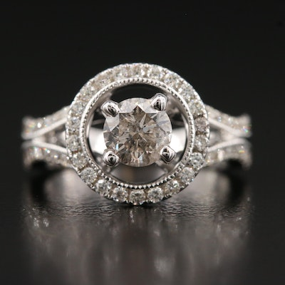 18K 1.08 CTW Diamond Ring