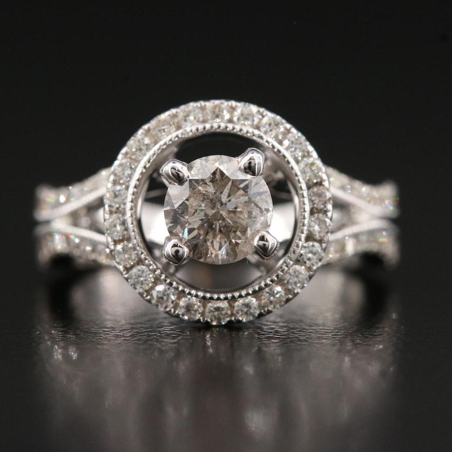18K 1.08 CTW Diamond Ring